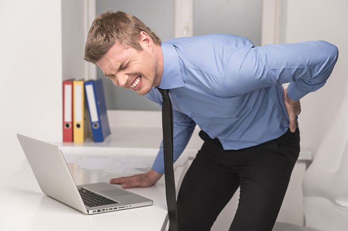 sakit belakang di tempat kerja